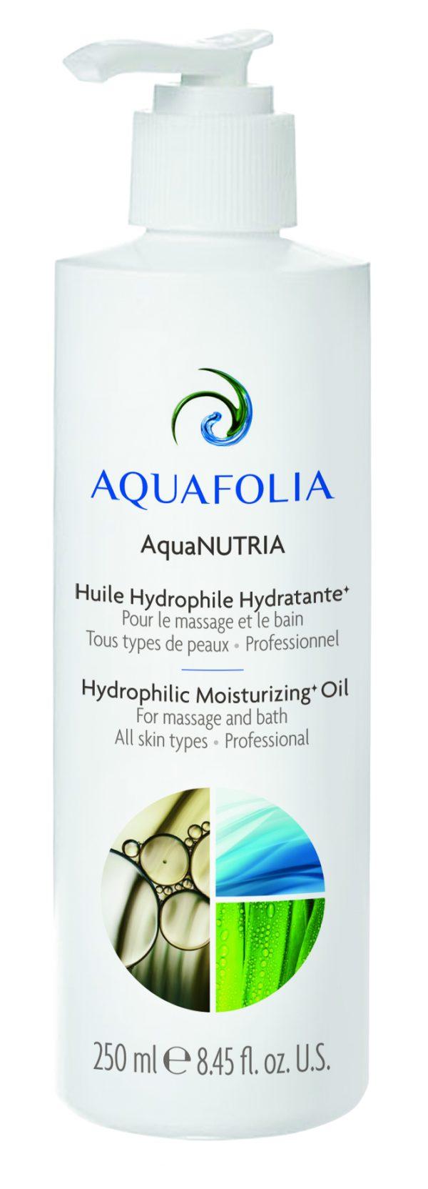 huile hydrophile Aquanutria, huile de massage